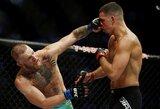 Saldus revanšas: varžovo veidą sumaitojęs C.McGregoras penkių raundų mūšyje įveikė N.Diazą!