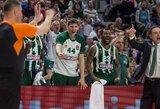 """Karas Graikijos krepšinio lygoje tęsiasi: protestuojanti """"Panathinaikos"""" stabdo žaidimą vietiniame čempionate"""
