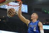 """G.Antetokounmpo 48 taškų nepakako: """"Mavericks"""" nutraukė 18 pergalių seriją"""