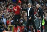 """D.Berbatovas neslėpė pasipiktinimo dėl sklindančių gandų apie """"Manchester United"""" ekipą ir tiki, jog J.Mourinho bei P.Pogbai pavyks rasti kompromisą"""