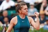 """Penkis geimus iš eilės pralaimėjusi geriausia pasaulio tenisininkė nelengvai įveikė pirmąjį """"Roland Garros"""" ratą"""