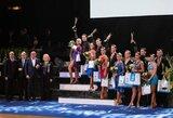 """Jubiliejinėje """"Gintarinėje poroje"""" – lietuvių triumfas, žinomi šokių gerbėjai ir Č.Norvaišos piešinių paroda"""