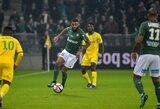 """""""Saint-Etienne"""" savų žiūrovų akivaizdoje užtikrintai susitvarkė su """"Nantes"""" futbolininkais"""