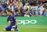 """Be vieno žaidėjo likusi """"Barcelona"""" Ispanijoje nesugebėjo išlaikyti pergalės"""