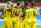 """""""Borussia"""" vietiniame čempionate laimėjo 7 įvarčių trilerį prieš """"Bayer"""" futbolininkus"""