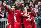 """Vokietija: varžovus sutriuškinę """"Bayern"""" aplenkė taip pat laimėjusią """"Borussia"""""""