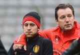 """Belgijos rinktinės treneris: """"E.Hazardas man primena Z.Zidane'ą"""""""