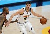 47 taškus surinkęs N.Jokičius nutraukė ilgiausią pergalių seriją NBA