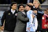 """L.Messi sulaukė D.Maradonos prašymo: """"Laimėk pasaulio čempionatą"""""""