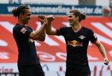 """""""RB Leipzig"""" slėpė informaciją apie teigiamą žaidėjo COVID-19 testą"""