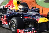 """S.Vettelis: """"Nebaigtos lenktynės nieko nepakeitė"""""""