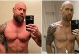 Prieš ir po koronaviruso: kultūristas parodė dramatiškus kūno pokyčius
