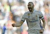 """Spauda: K.Benzemą nori prisivilioti """"Milan"""" klubas"""