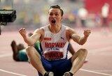 Vakarą pasaulio lengvosios atletikos čempionate vainikavo Europos rekordininko triumfas