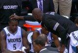 """Gražu žiūrėti: """"Timberwolves"""" žaidėjams – tėviškos K.Garnetto pamokos"""
