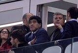Legendinis D.Maradona skėlė antausį žurnalistui