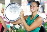 Nesėkmių seriją finaluose nutraukusi baltarusė pirmą kartą karjeroje laimėjo WTA turnyrą