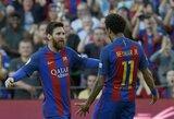"""L.Messi """"Instagram"""" tinkle paskelbė atsisveikinimo žinutę Neymarui"""