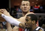 """Rezultatyviausiai komandoje žaidęs D.Motiejūnas neišgelbėjo """"Rockets"""" nuo pralaimėjimo"""