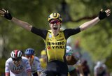 """W.van Aertas laimėjo """"Tour de France"""" etapą, J.Alaphilippe'o persekiotojai prarado brangų laiką"""