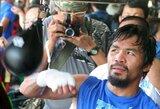 """M.Pacquiao: """"Mano kojos tapo greitesnės, o aš pats jaučiuosi stipresnis"""""""