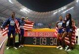 Po gimdymo grįžusi A.Felix aplenkė U.Boltą ir prisidėjo prie planetos rekordo, rusė išplėšė pasaulio čempionato auksą