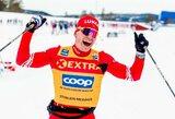 Konkurentų kaltinimai Rusijos slidinėjimo žvaigždei – laimėjo su sniegaeigio pagalba?