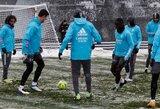 """Sniego pūga jaukia planus Ispanijoje: """"Real"""" laukė kelionės į Pamploną lėktuve 4 valandas"""