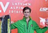 R.Zaveckas startavo pasaulio jaunimo kalnų slidinėjimo čempionate