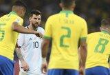 Brazilija prieš L.Messi: internete – plintanti kritika neveiksniai Argentinos rinktinei ir pasiūlymai baigti karjerą