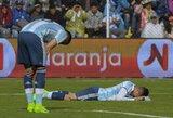 Bilietas į pasaulio čempionatą slysta iš Argentinos rinktinės rankų