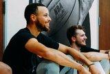 L.Dončičius sportavo kartu su S.Curry treneriais