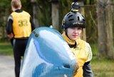 Europos jaunimo baidarių slalomo čempionate į pusfinalį nepavyko patekti ir E.Baranauskaitei