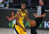 """NBA stebinantis puolėjas atvedė """"Pacers"""" į dar vieną pergalę"""
