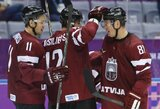 Latviai olimpiniame ledo ritulio turnyre neatsilaikė prieš švedus