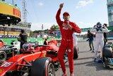 """Italijos GP: po lemtingos L.Hamiltono klaidos – 9 metus laukta """"Ferrari"""" pergalė"""