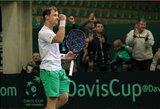R.Berankio pergalė išsaugojo Lietuvos teniso rinktinės viltis
