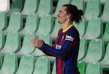 """R.Koemanas paaiškino, kodėl A.Griezmanną rungtynėse su """"Sevilla"""" paliko ant suolo"""