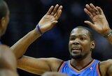 """Los Andžele laimėję """"Thunder"""" krepšininkai  persvėrė konferencijos pusfinalio serijos rezultatą"""