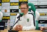 """V.Dambrauskas laukia rungtynių prieš komandą, prieš kurią jis pralaimėjo: """"Būsime pasirengę"""""""