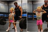 Įspūdingus svorius kelianti 7-metė privertė sunerimti: ar tai sveika?