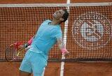 """99-2: revanšą pasiekęs R.Nadalis atsidūrė per žingsnį nuo 13-ojo """"Roland Garros"""" čempiono titulo"""