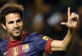 """""""Man Utd"""" už C.Fabregasą siūlys 40 mln. eurų, už E.Garay – 20 mln. eurų"""