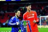 """E.Hazardą su L.Messi ir C.Ronaldo palyginęs T.Courtoisas pripažino pasirašysiąs naują sutartį su """"Chelsea"""""""