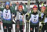 Lietuvos moterų biatlono rinktinė pasaulio taurės estafetėje aplenkė tik estes