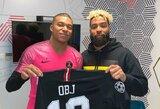 Pamatykite: Paryžiuje apsilankęs amerikietiško futbolo žvaigždė O.Beckhamas susitiko su K.Mbappe