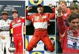 """Top 10: geriausi visų laikų """"Formulės 1"""" lenktynininkai"""
