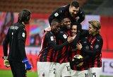 """Baudinių seriją laimėjęs """"AC Milan"""" iškovojo kelialapį į Italijos futbolo taurės ketvirtfinalį"""