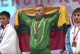 Po neįtikėtinos dramos E.Valčiukas iškovojo pasaulio jaunių štangos spaudimo čempionato auksą!