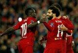 """M.Salah ir S.Mane prisijungė prie ypatingo """"Liverpool"""" rezultatyviųjų klubo Čempionų lygoje"""
